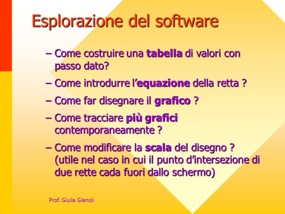 Esplorazione del software