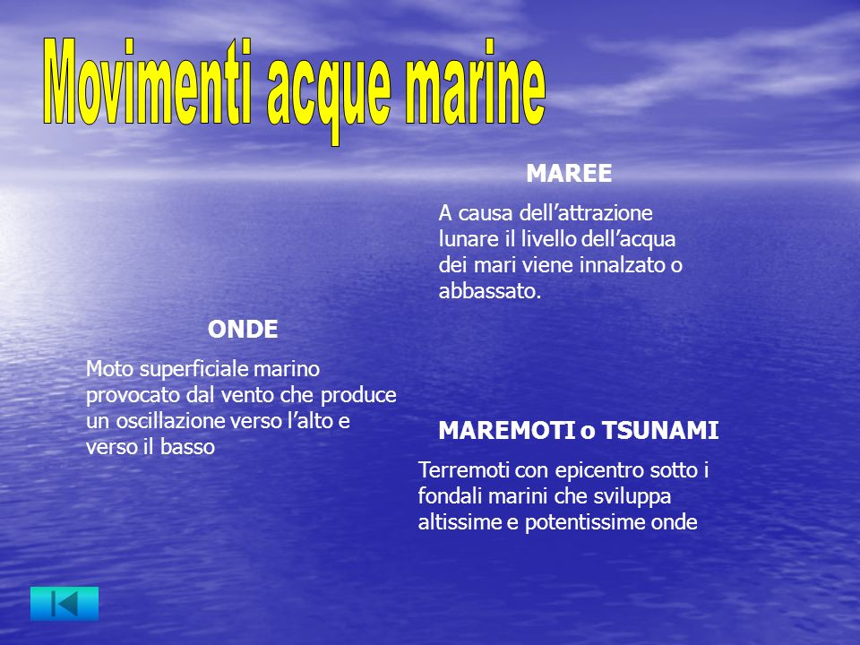 Movimenti acque marine