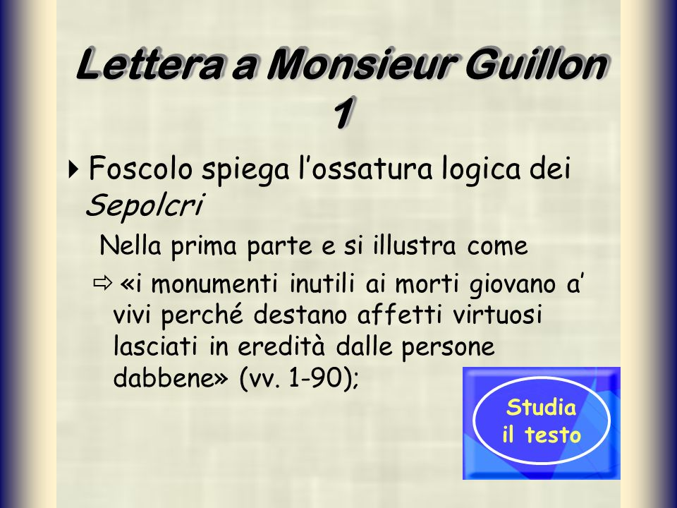 Lettera a Monsieur Guillon 1