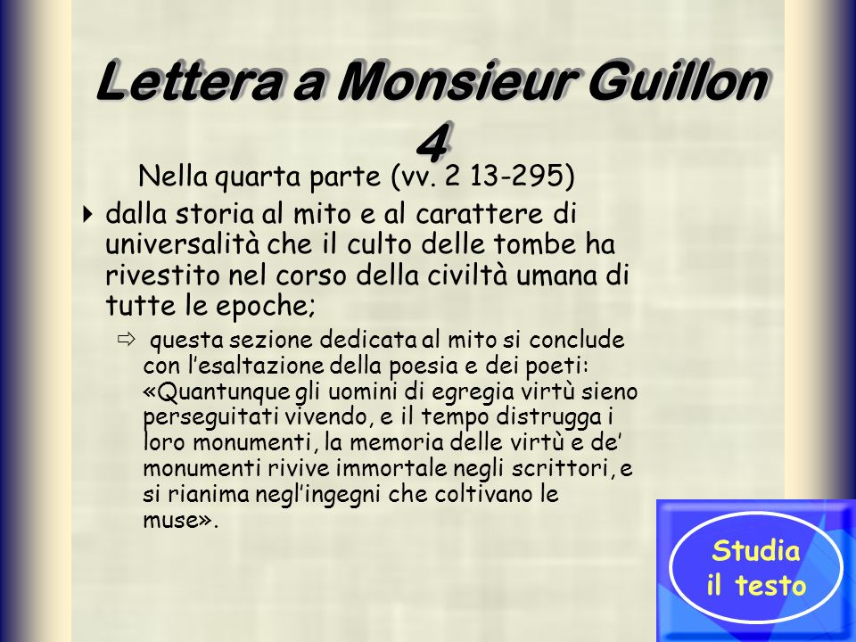 Lettera a Monsieur Guillon 4