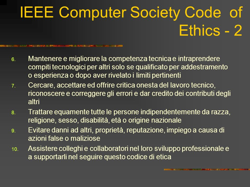 IEEE Computer Society Code of Ethics - 2
