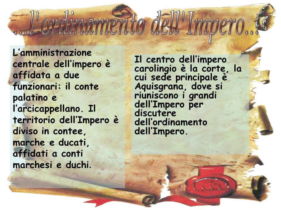...l ordinamento dell Impero...