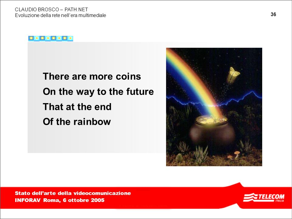 There are more coins On the way to the future That at the end Of the rainbow