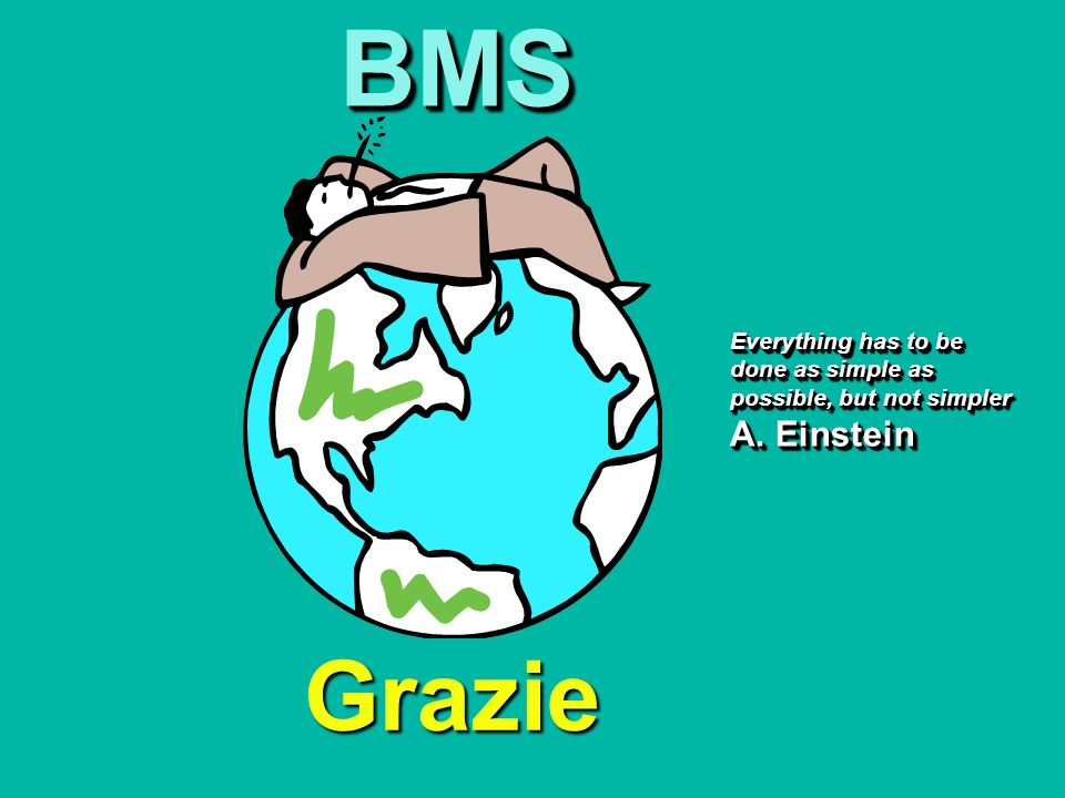 BMS Everything has to be done as simple as possible, but not simpler A. Einstein Grazie