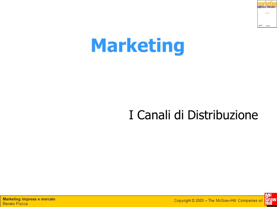 Marketing I Canali di Distribuzione
