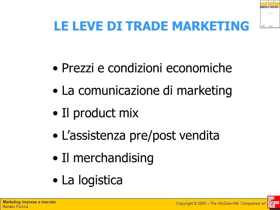 LE LEVE DI TRADE MARKETING