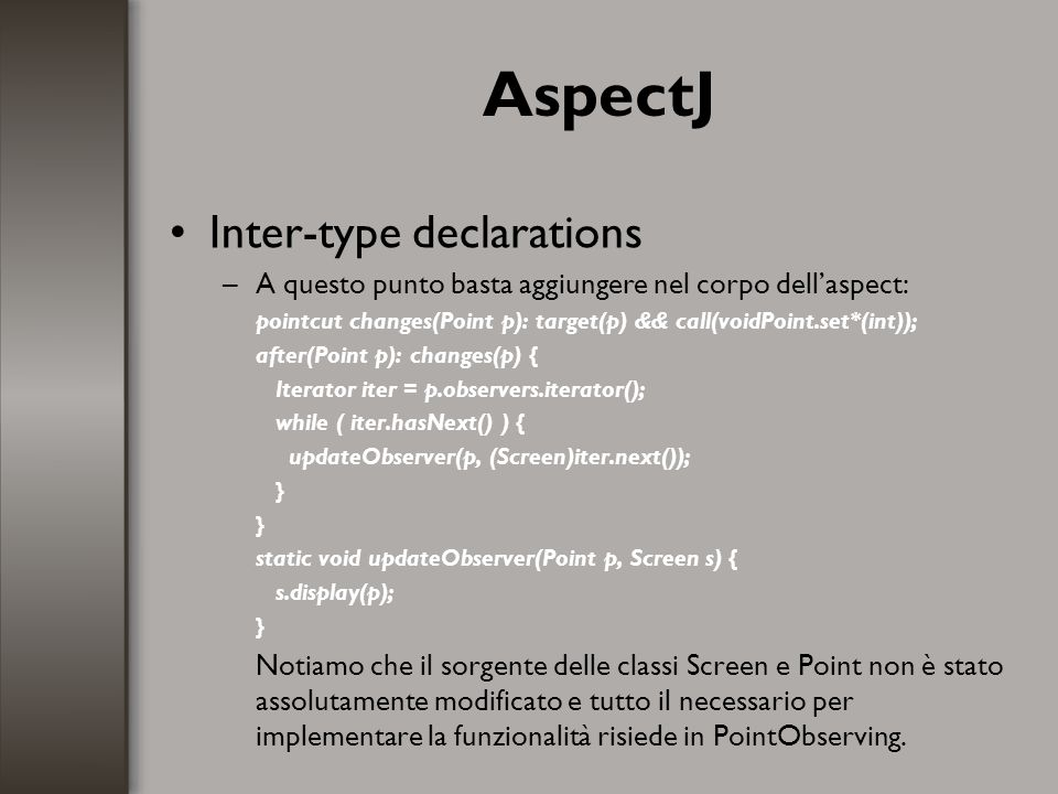 AspectJ Inter-type declarations