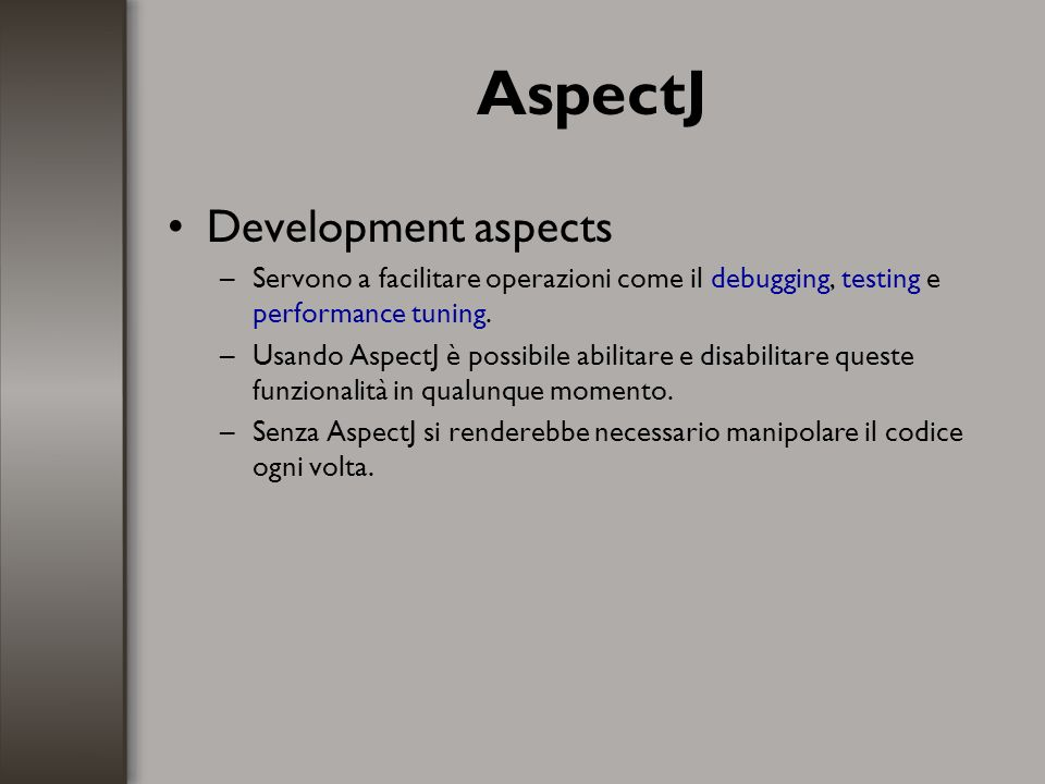 AspectJ Development aspects
