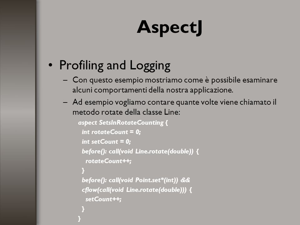 AspectJ Profiling and Logging