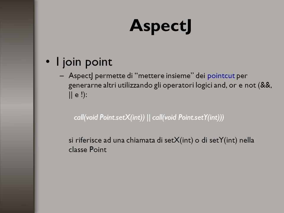 AspectJ I join point.
