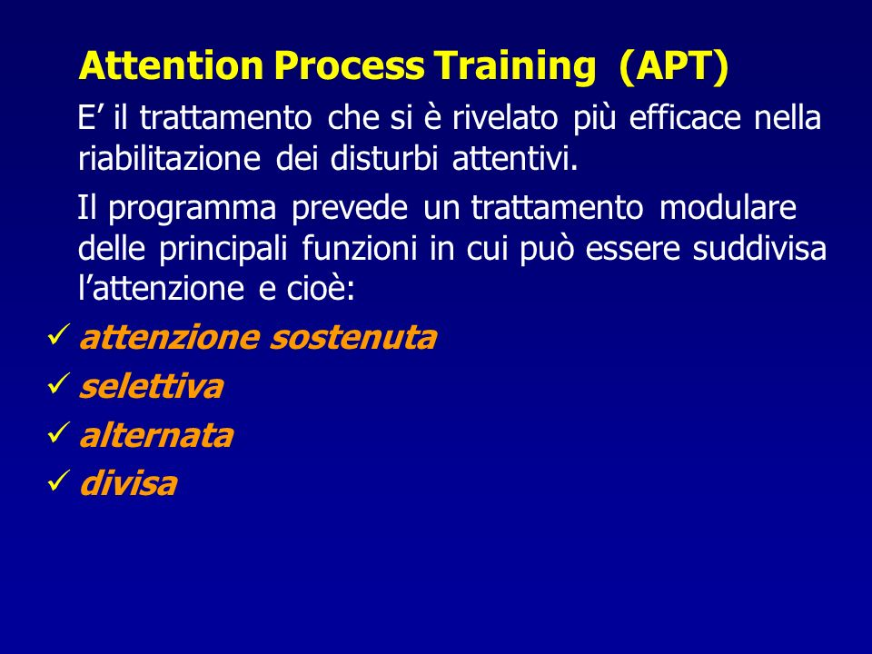 Attention Process Training (APT)