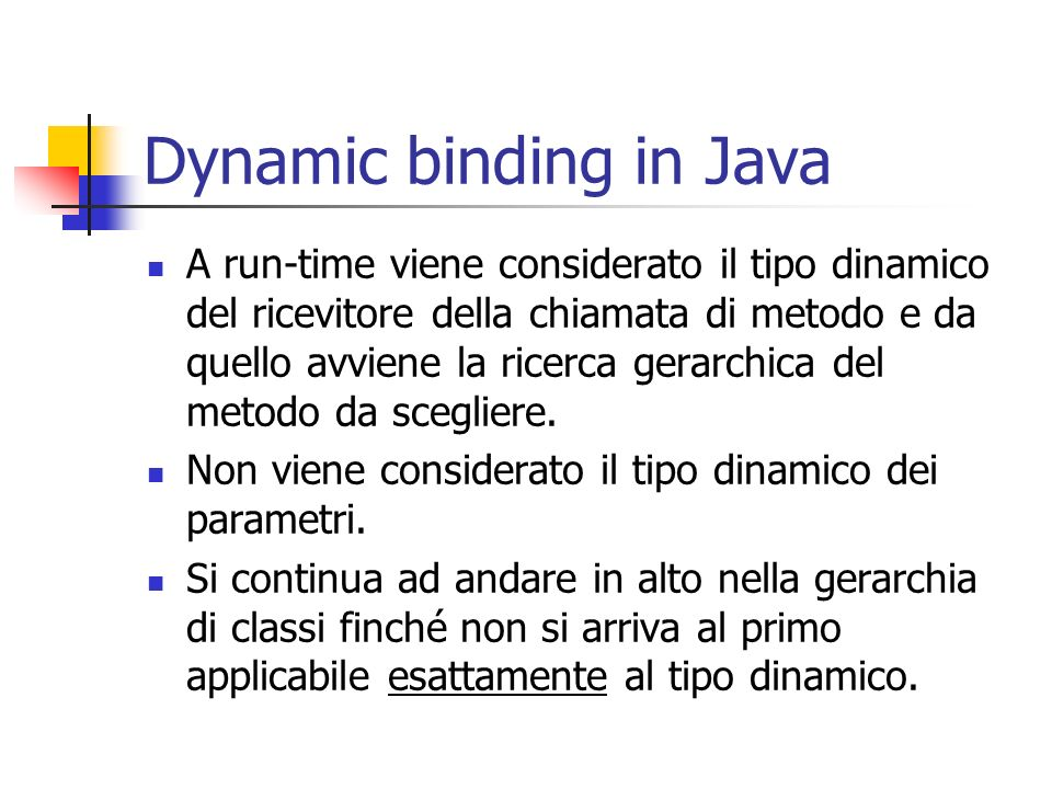 Dynamic binding in Java