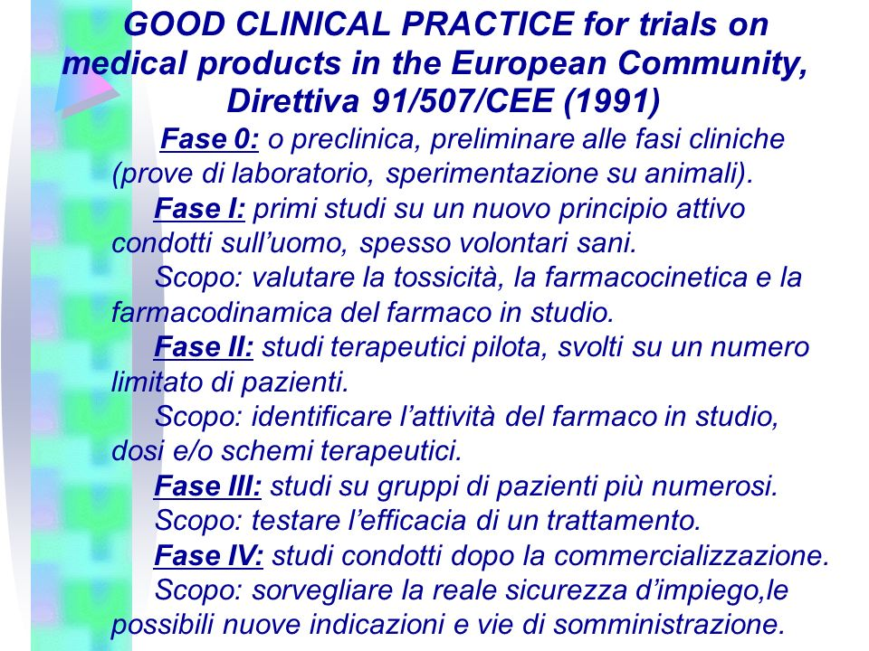 GOOD CLINICAL PRACTICE for trials on