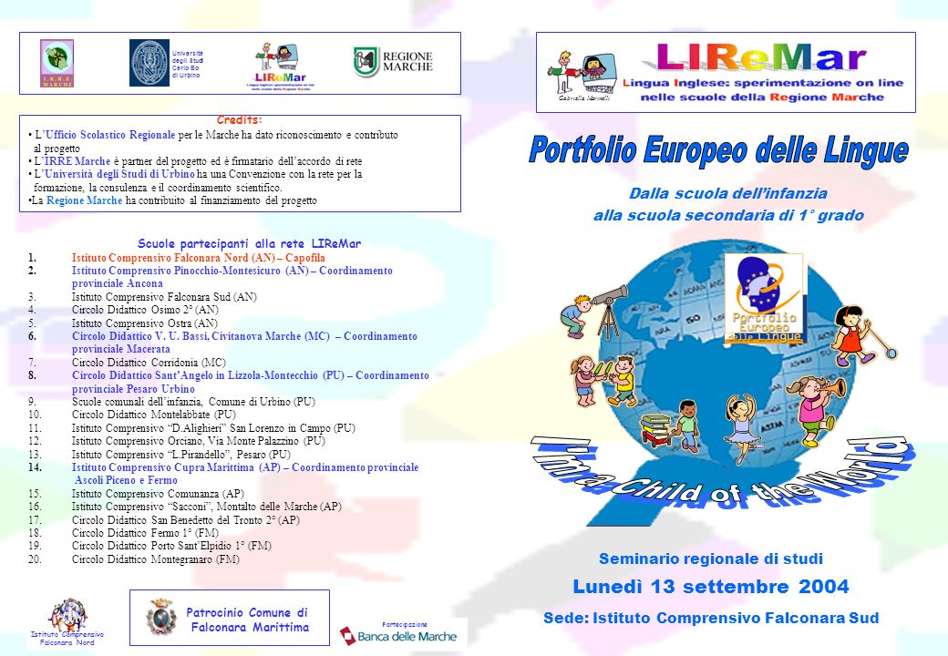 I m a Child of the World Portfolio Europeo delle Lingue