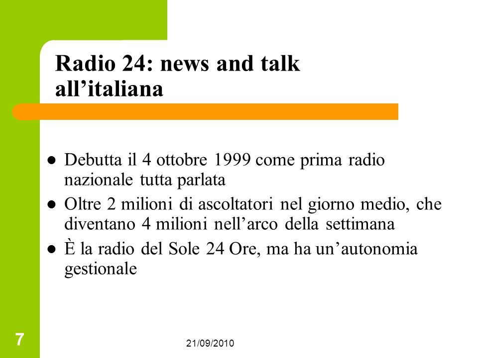 Radio 24: news and talk all'italiana