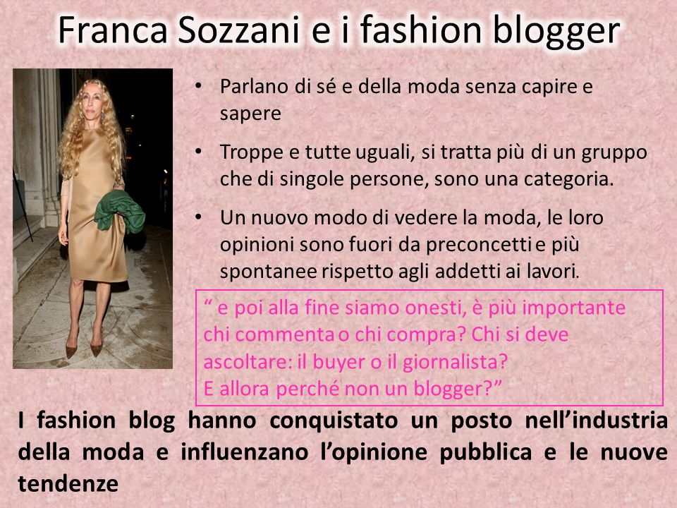 Franca Sozzani e i fashion blogger