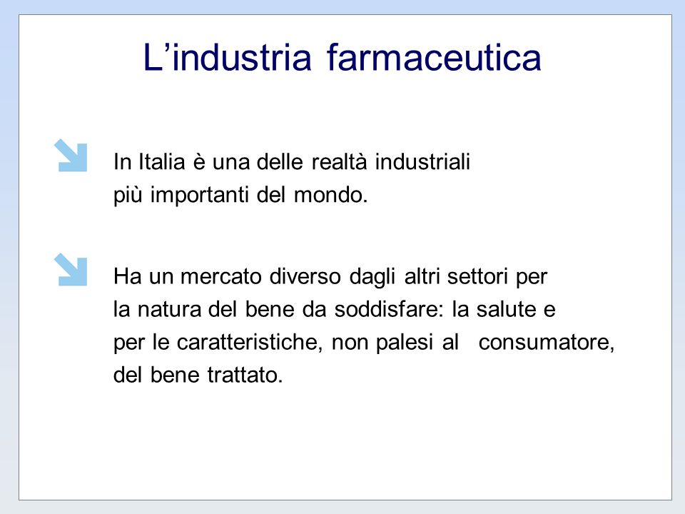 L'industria farmaceutica