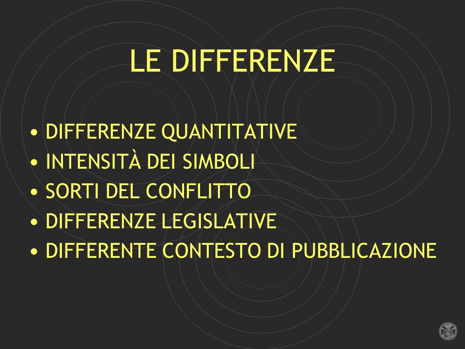 LE DIFFERENZE DIFFERENZE QUANTITATIVE INTENSITÀ DEI SIMBOLI