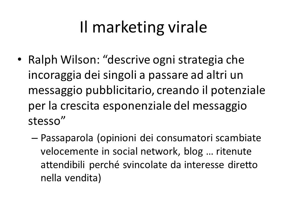 Il marketing virale