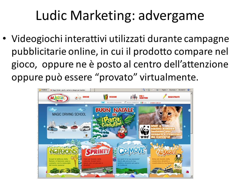 Ludic Marketing: advergame