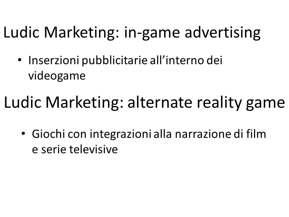Ludic Marketing: alternate reality game