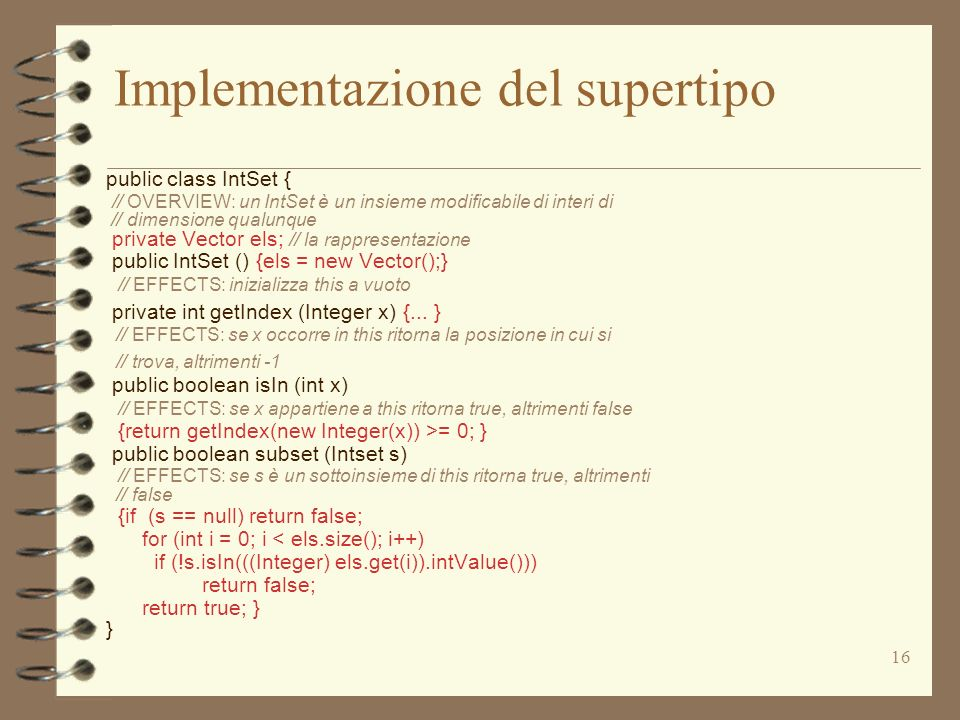 Implementazione del supertipo