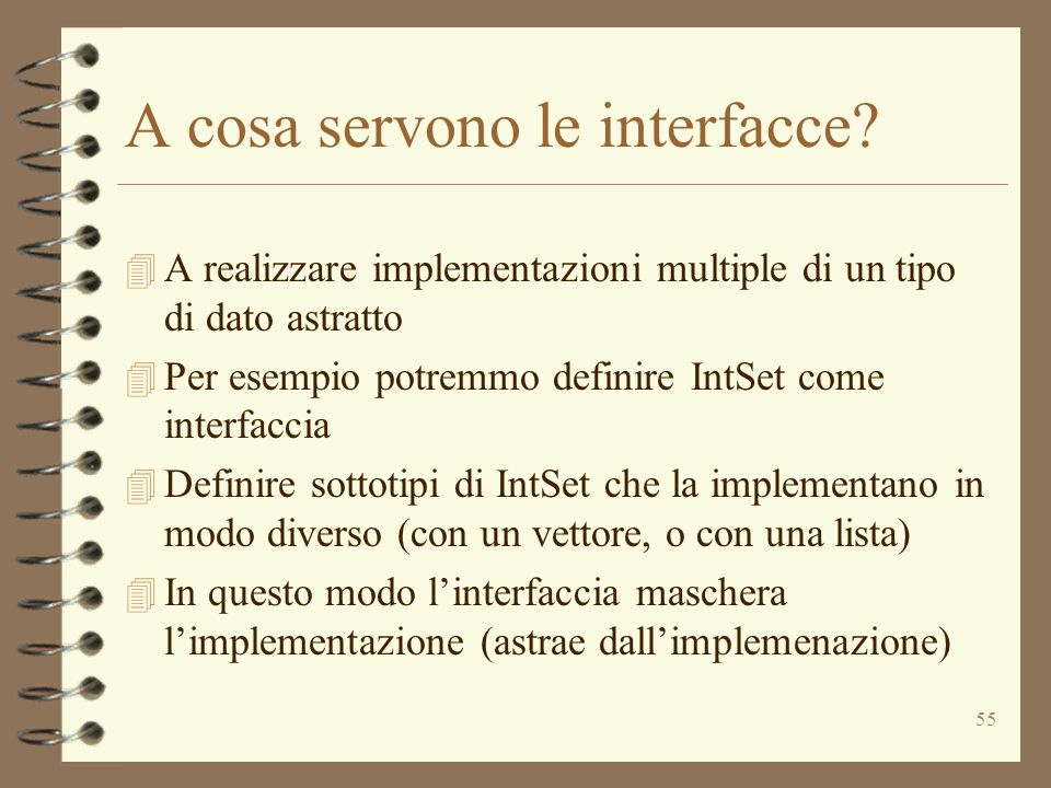 A cosa servono le interfacce