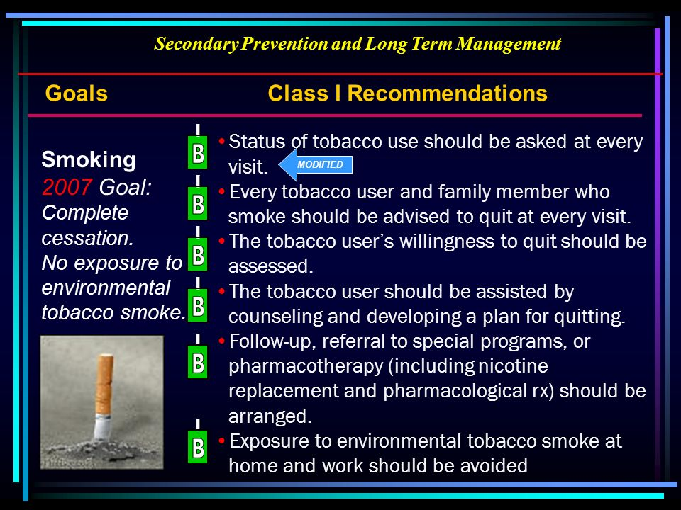 Secondary Prevention and Long Term Management