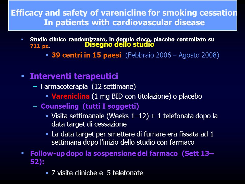 Efficacy and safety of varenicline for smoking cessation