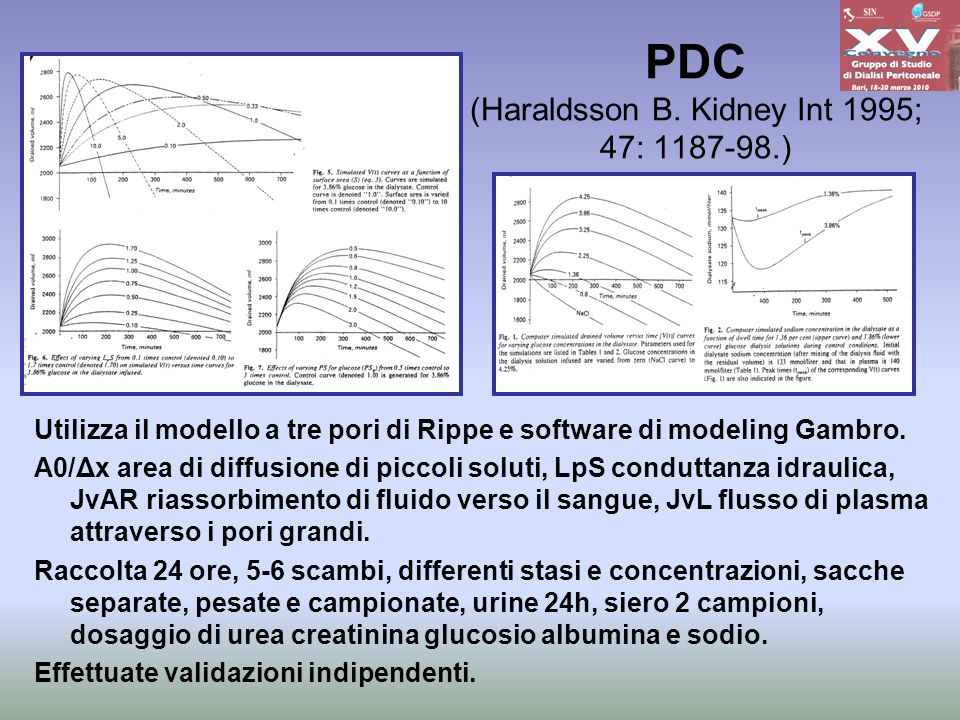 PDC (Haraldsson B. Kidney Int 1995; 47: 1187-98.)