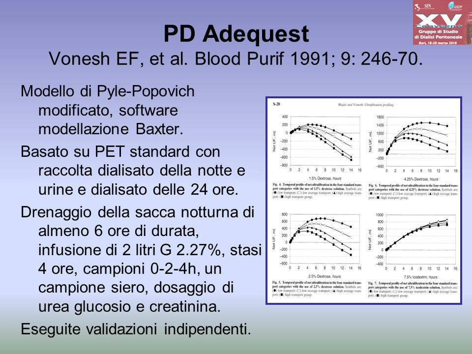 PD Adequest Vonesh EF, et al. Blood Purif 1991; 9: 246-70.