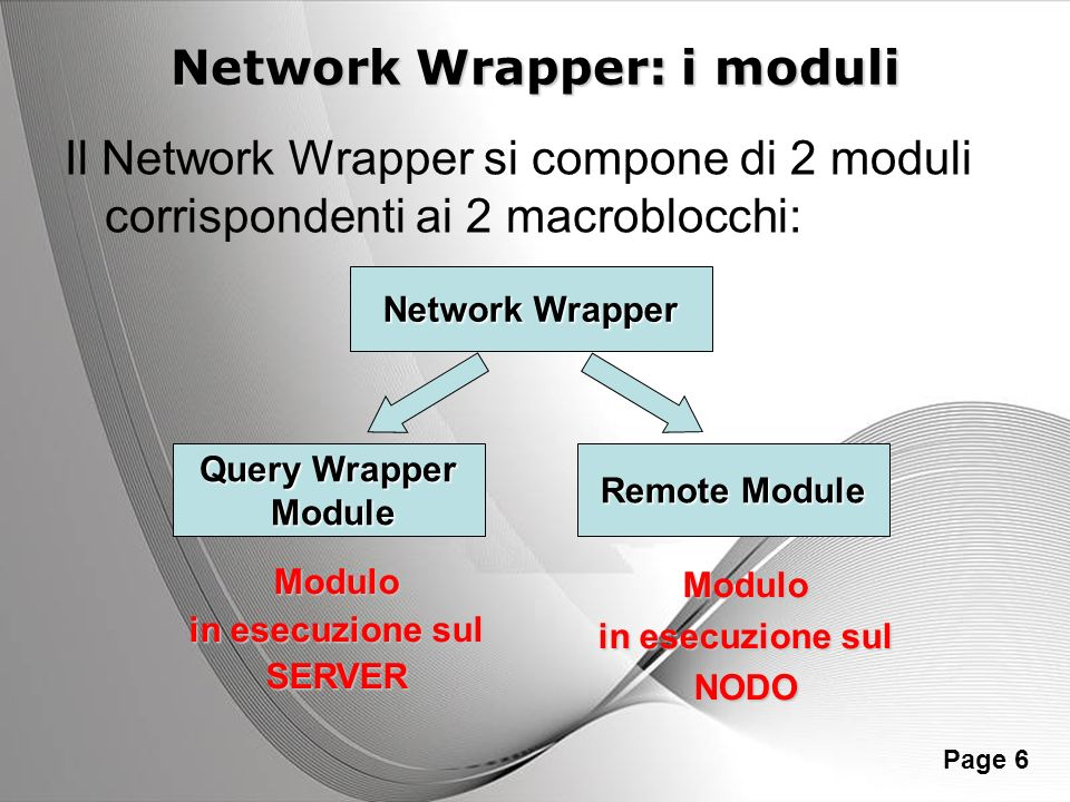 Network Wrapper: i moduli