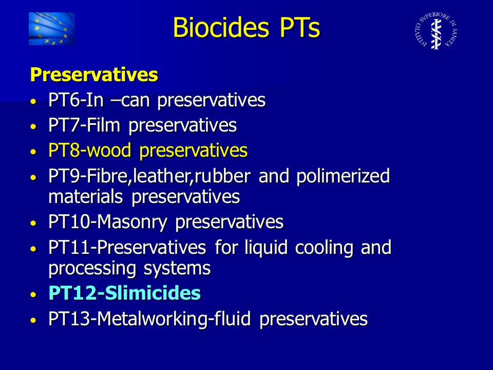 Biocides PTs Preservatives PT6-In –can preservatives
