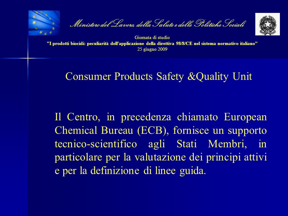 Consumer Products Safety &Quality Unit