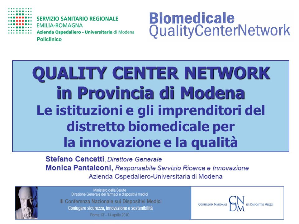 QUALITY CENTER NETWORK in Provincia di Modena