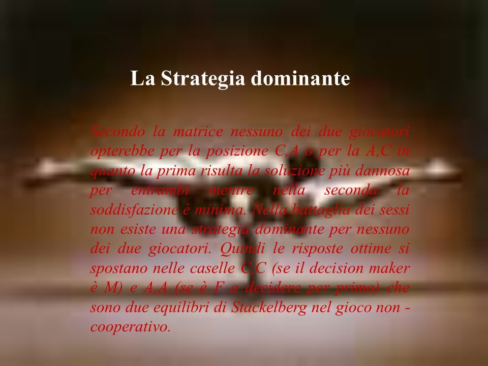 La Strategia dominante