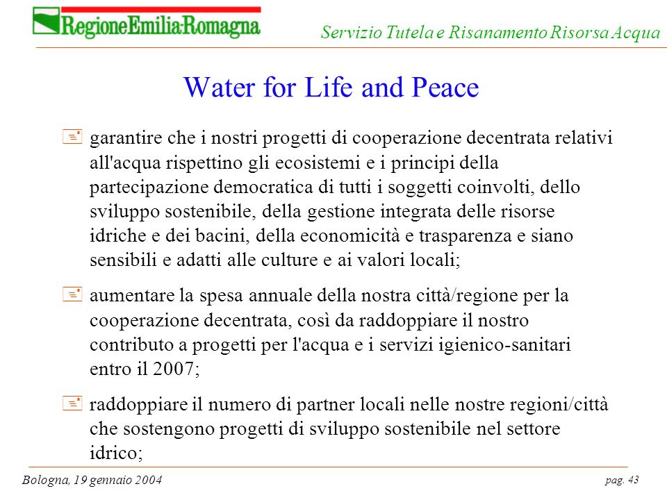 Water for Life and Peace