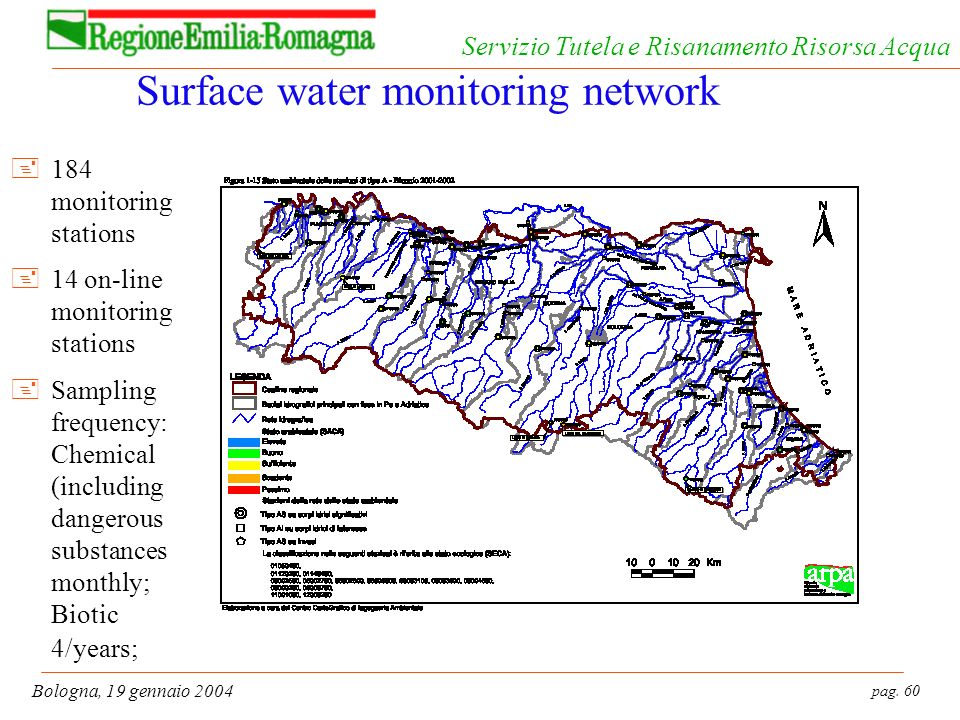 Surface water monitoring network