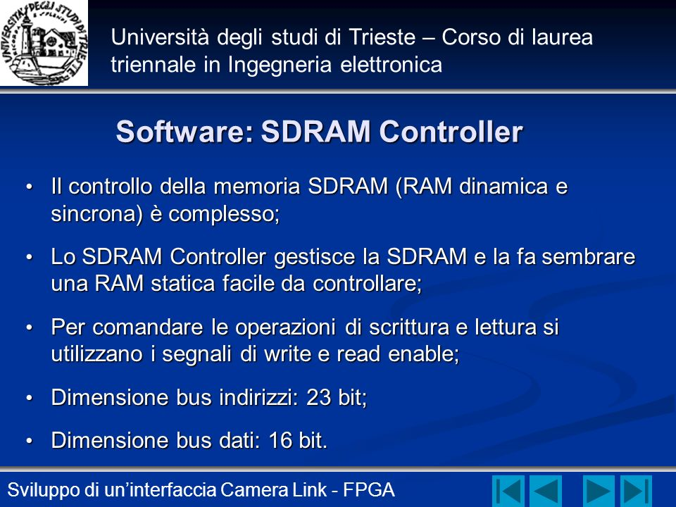 Software: SDRAM Controller