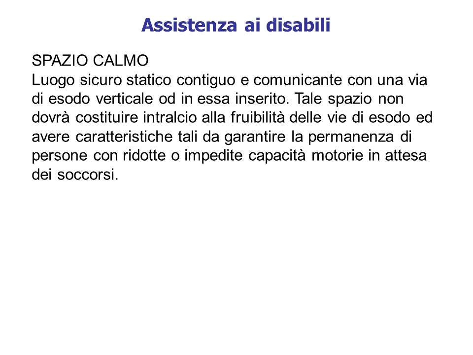 Assistenza ai disabili