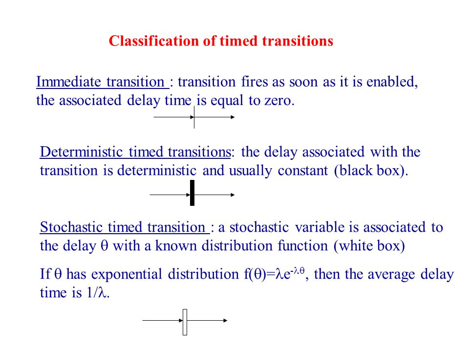 Classification of timed transitions