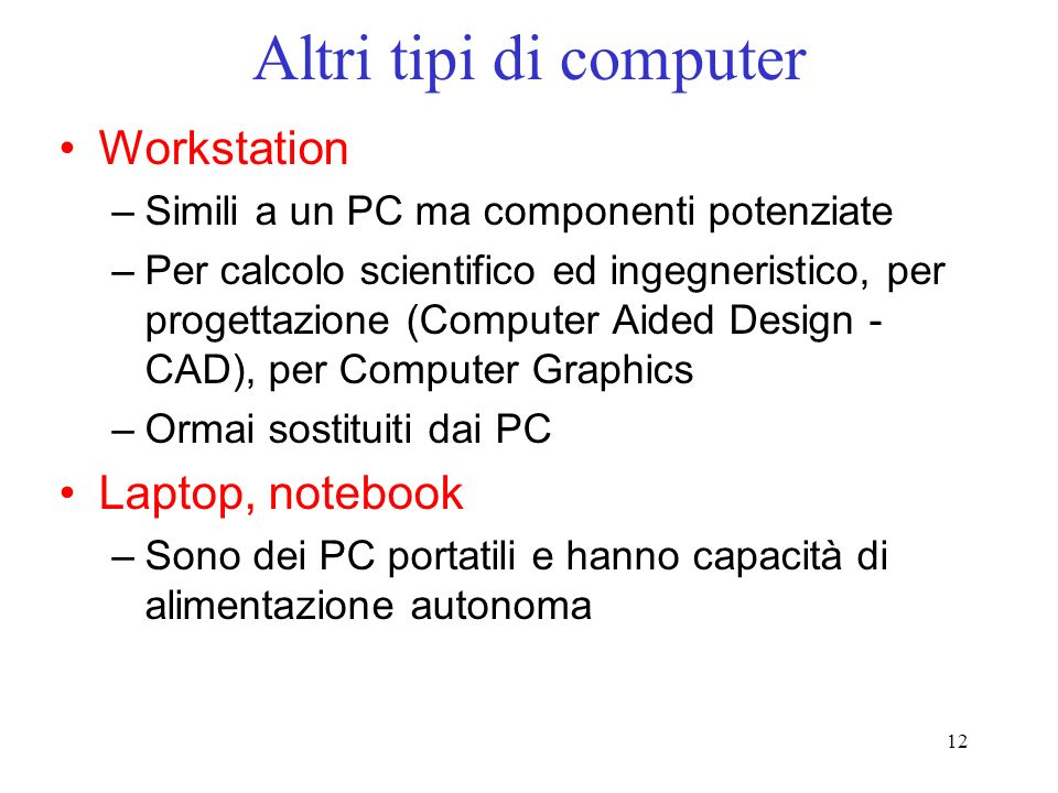Altri tipi di computer Workstation Laptop, notebook