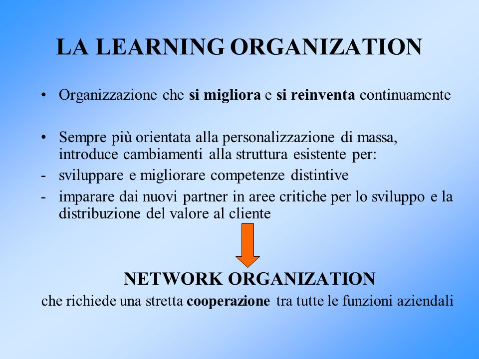 LA LEARNING ORGANIZATION