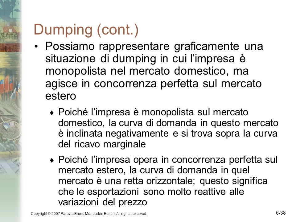 Dumping (cont.)