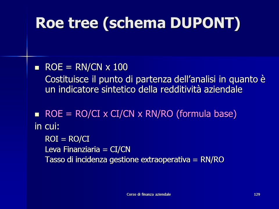 Roe tree (schema DUPONT)
