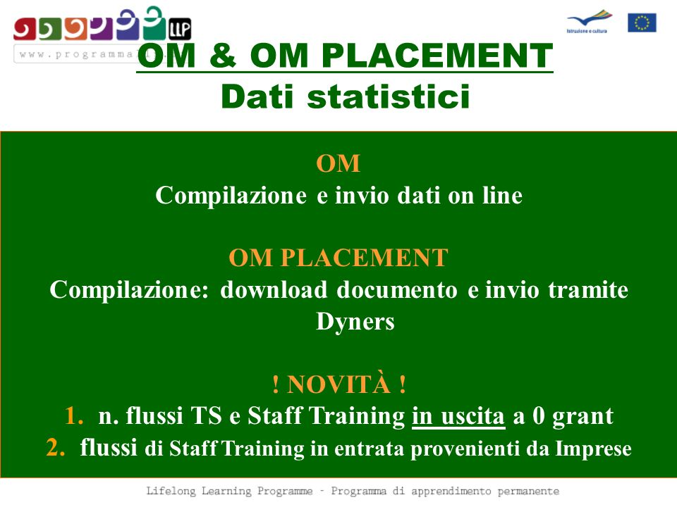 OM & OM PLACEMENT Dati statistici