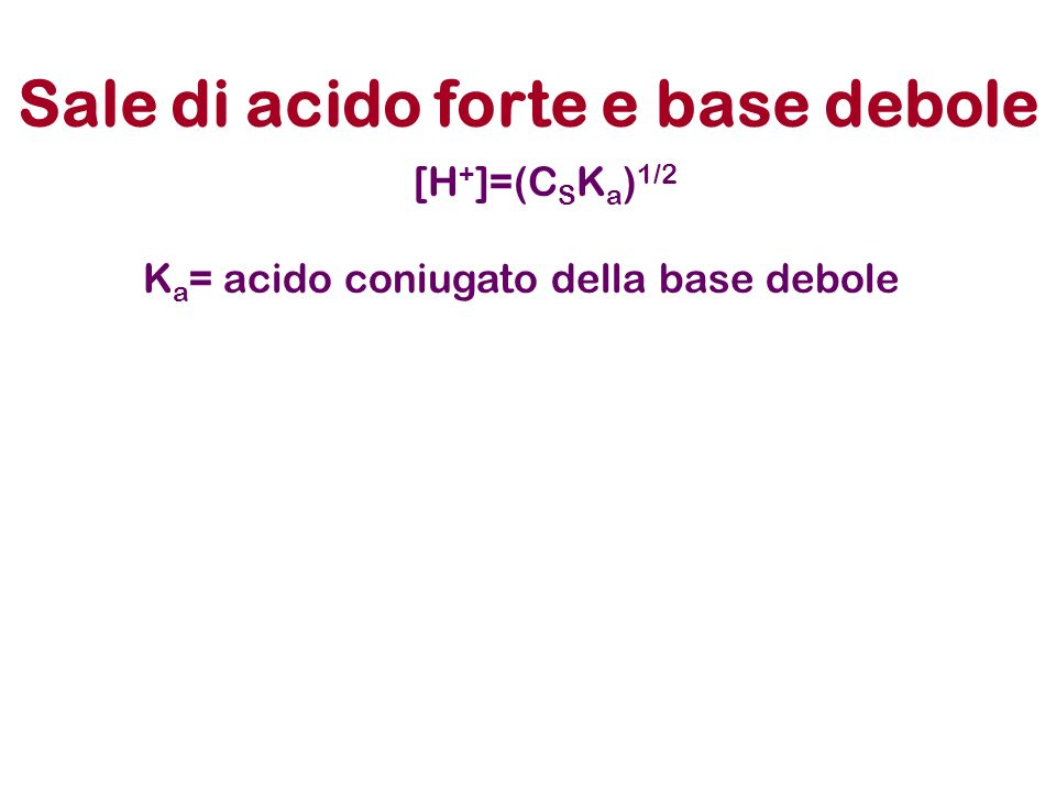 Sale di acido forte e base debole