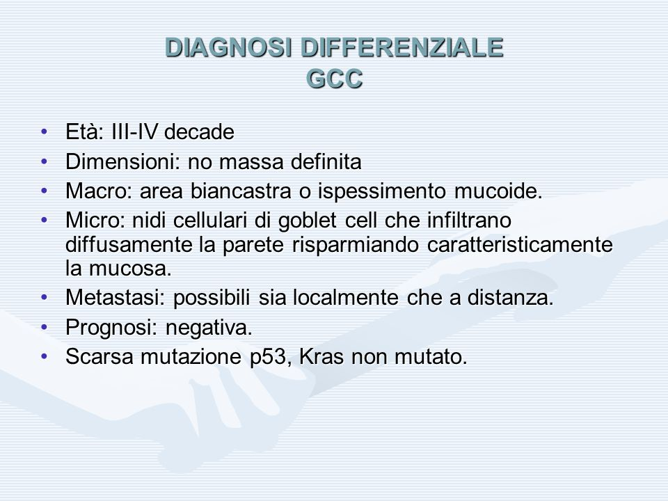 DIAGNOSI DIFFERENZIALE GCC