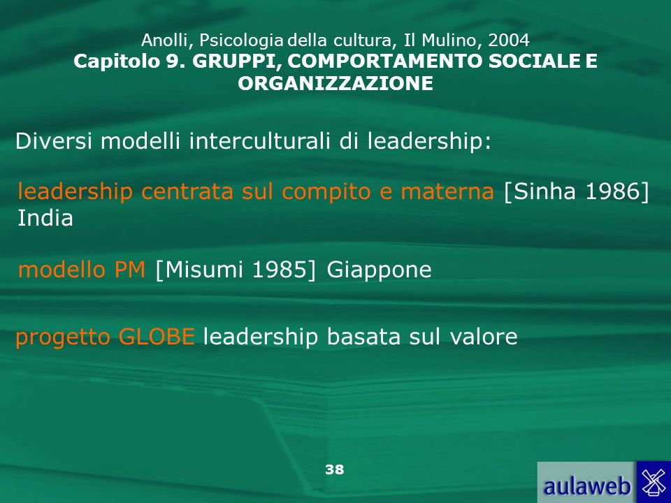 Diversi modelli interculturali di leadership: