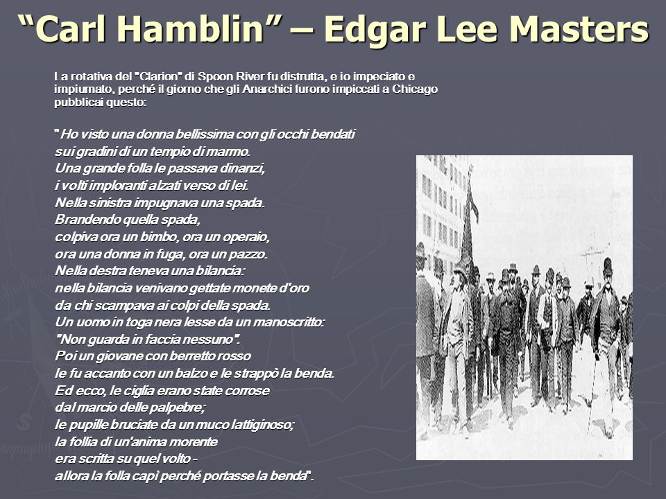 Carl Hamblin – Edgar Lee Masters